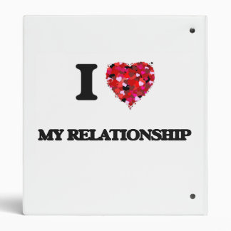 I Love My Relationship Vinyl Binder