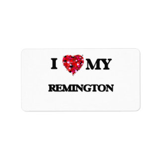 I love my Remington Address Label