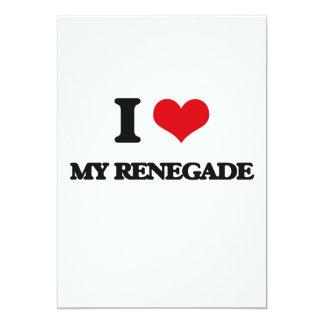I Love My Renegade 5x7 Paper Invitation Card