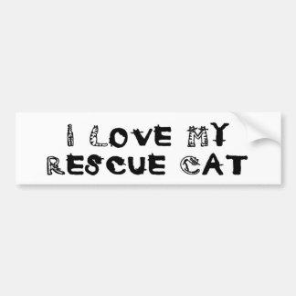 I Love My Rescue Cat Bumper Sticker
