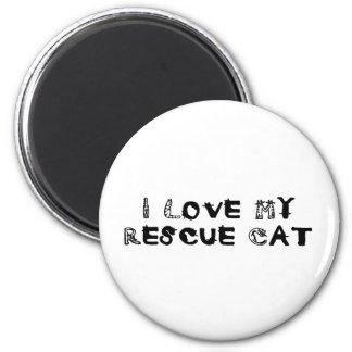 I Love My Rescue Cat Magnet