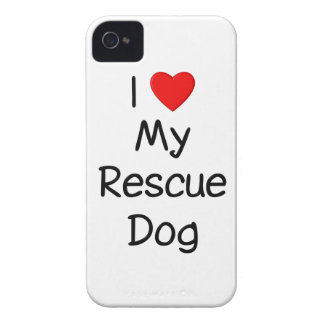 I Love My Rescue Dog iPhone 4 Cases