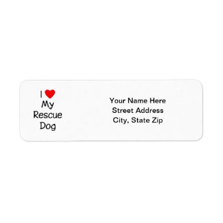 I Love My Rescue Dog Label