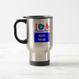"""I Love My Rescue Pet"" Add  Photo Coffee Mug"