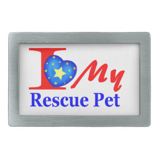 """I Love My Rescue Pet """"Heroes4Rescue"""" Belt Buckles"""