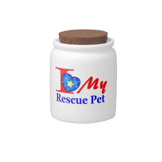 "I Love My Rescue Pet ""Heroes4Rescue"" Candy Jars"