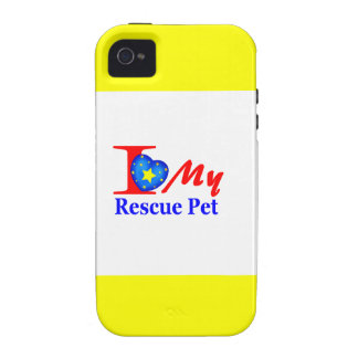 "I Love My Rescue Pet ""Heroes4Rescue"" Vibe iPhone 4 Case"