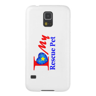 """I Love My Rescue Pet """"Heroes4Rescue"""" Cases For Galaxy S5"""