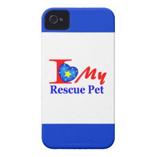 "I Love My Rescue Pet ""Heroes4Rescue"" iPhone 4 Case-Mate Case"