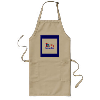 "I Love My Rescue Pet ""Heroes4Rescue"" Long Apron"