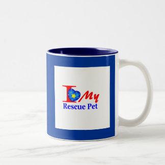 "I Love My Rescue Pet ""Heroes4Rescue"" Coffee Mug"