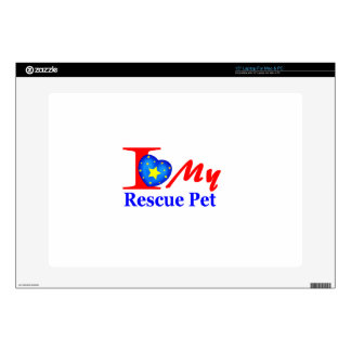 """I Love My Rescue Pet """"Heroes4Rescue"""" Laptop Skin"""