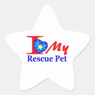 "I Love My Rescue Pet ""Heroes4Rescue"" Star Sticker"