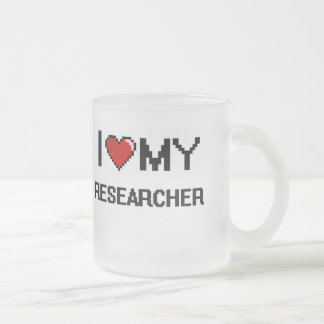 I love my Researcher Frosted Glass Mug