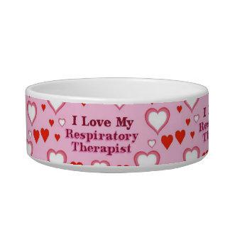 I Love My Respiratory Therapist Bowl