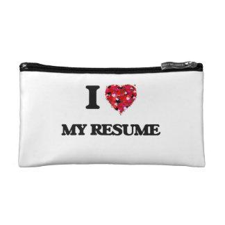 I Love My Resume Cosmetics Bags