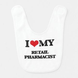 I love my Retail Pharmacist Baby Bibs