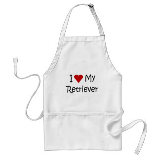 I Love My Retriever Dog Breed Lover Gifts Adult Apron