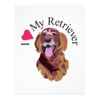 I Love My Retriever Letterhead