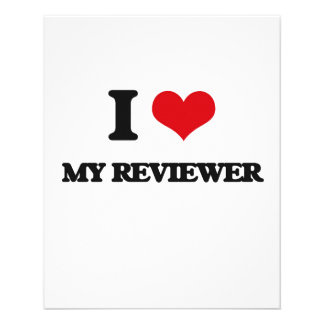 """I Love My Reviewer 4.5"""" X 5.6"""" Flyer"""