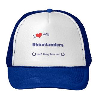 I Love My Rhinelanders Multiple Horses Mesh Hats