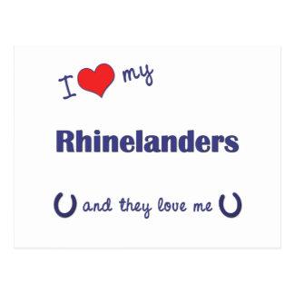 I Love My Rhinelanders (Multiple Horses) Postcard