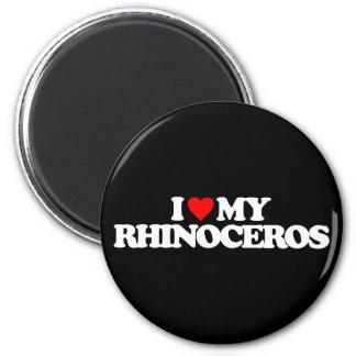 I LOVE MY RHINOCEROS MAGNET