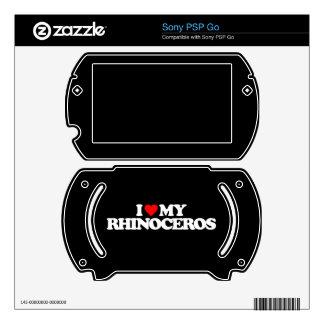 I LOVE MY RHINOCEROS PSP GO SKINS