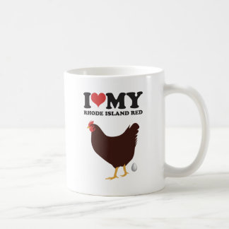 I Love My Rhode Island Red Coffee Mug