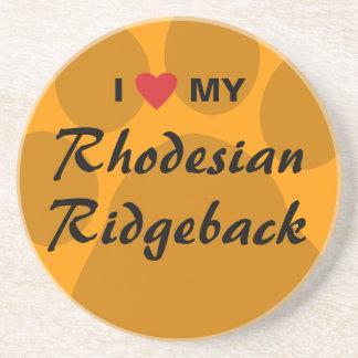 I Love My Rhodesian Ridgeback Drink Coaster