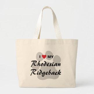 I Love My Rhodesian Ridgeback Large Tote Bag