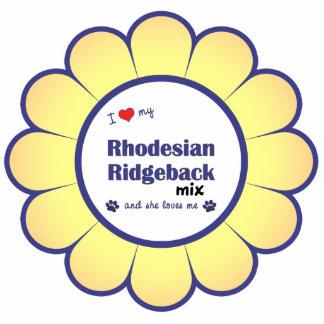 I Love My Rhodesian Ridgeback Mix (Female Dog) Photo Sculptures