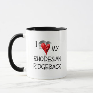 I Love My Rhodesian Ridgeback Mug