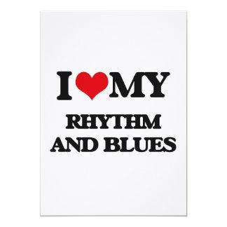I Love My RHYTHM AND BLUES 5x7 Paper Invitation Card