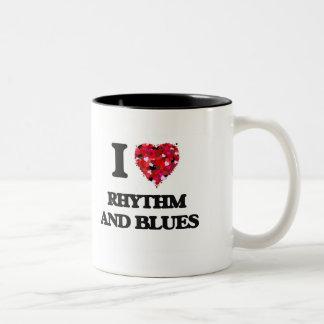 I Love My RHYTHM AND BLUES Two-Tone Coffee Mug