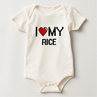 I Love My Rice Digital design Bodysuits