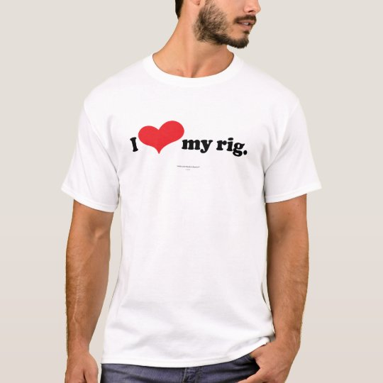 I Love My Rig Skydiver T-Shirt