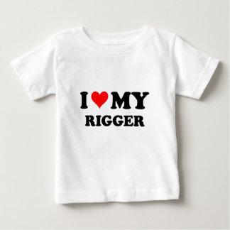 I Love My Rigger Baby T-Shirt
