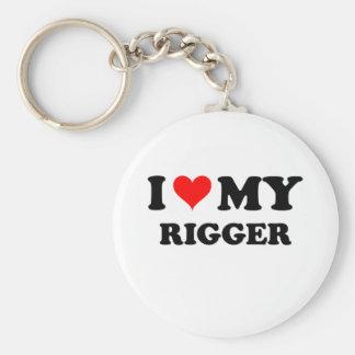 I Love My Rigger Basic Round Button Keychain