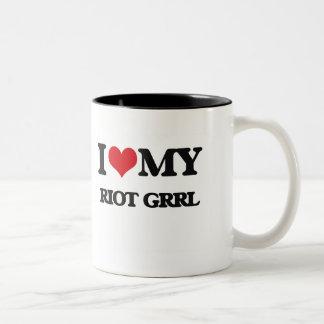 I Love My RIOT GRRL Coffee Mugs