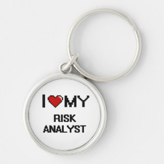 I love my Risk Analyst Silver-Colored Round Keychain