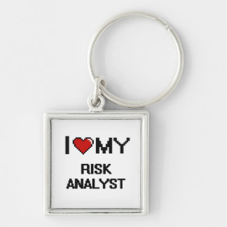 I love my Risk Analyst Silver-Colored Square Keychain