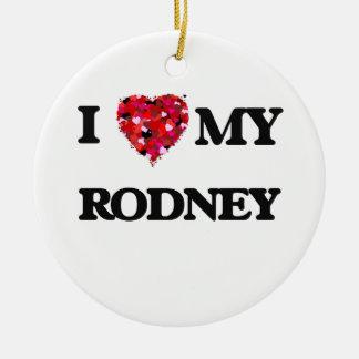 I love my Rodney Double-Sided Ceramic Round Christmas Ornament