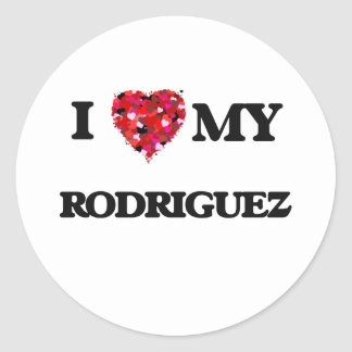 I Love MY Rodriguez Classic Round Sticker