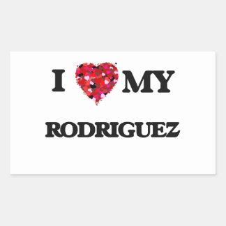 I Love MY Rodriguez Rectangular Sticker