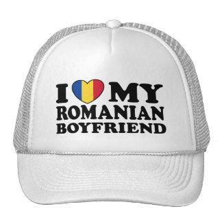 I Love My Romanian Boyfriend Mesh Hats