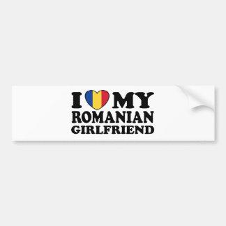 I Love My Romanian girlfriend Bumper Sticker