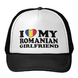 I Love My Romanian girlfriend Mesh Hats
