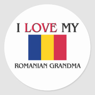I Love My Romanian Grandma Classic Round Sticker