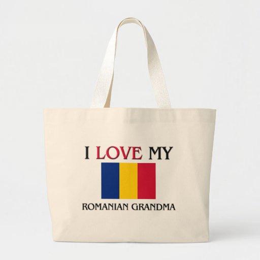 I Love My Romanian Grandma Jumbo Tote Bag